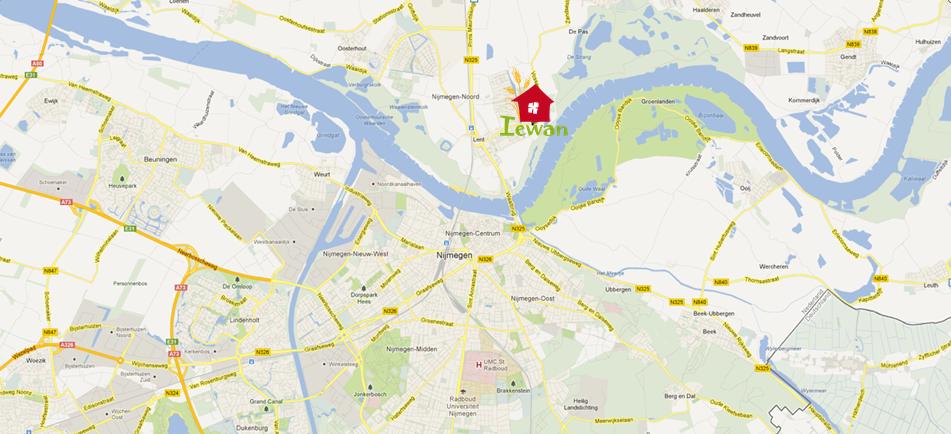 Lent ligt ten noorden van de Nijmeegse binnenstad en de Waal